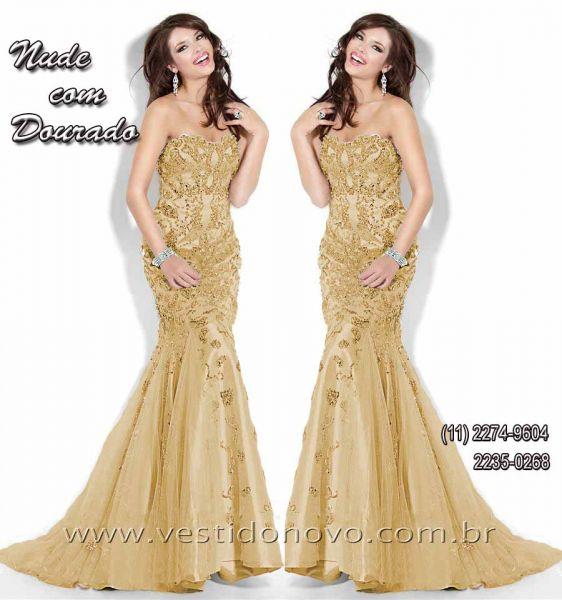 bb9af9b6b vestido dourado sereia, mãe do noivo, CASA DO VESTIDO NOVO São Paulo ...