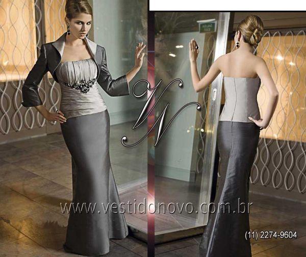 d266a9b1a6ac vestido plus size cinza chumbo mae do noivo zona sul sp - Vestido ...